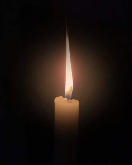 An image of a remembrance candle